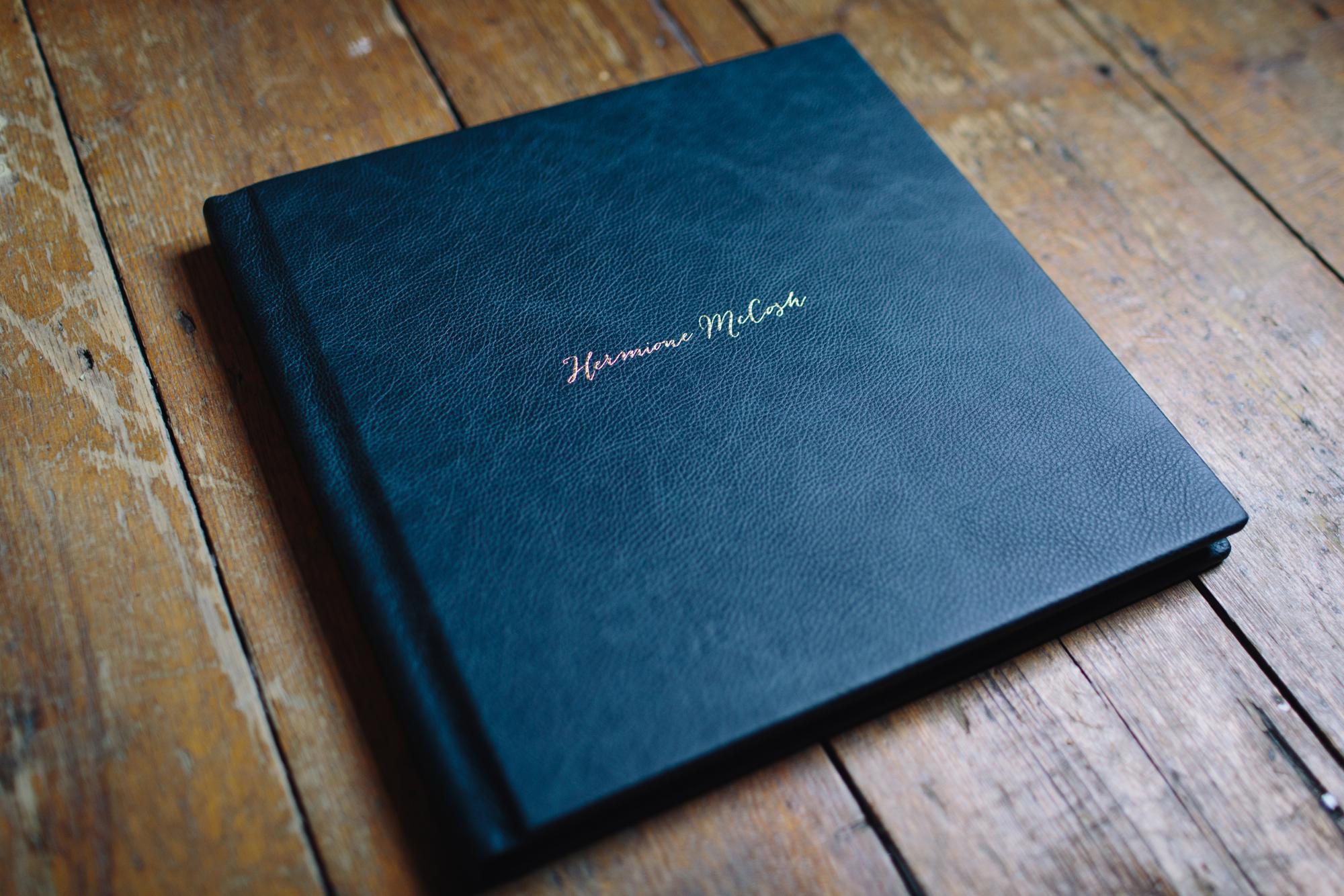 Hermione McCosh - Folio leather Wedding album