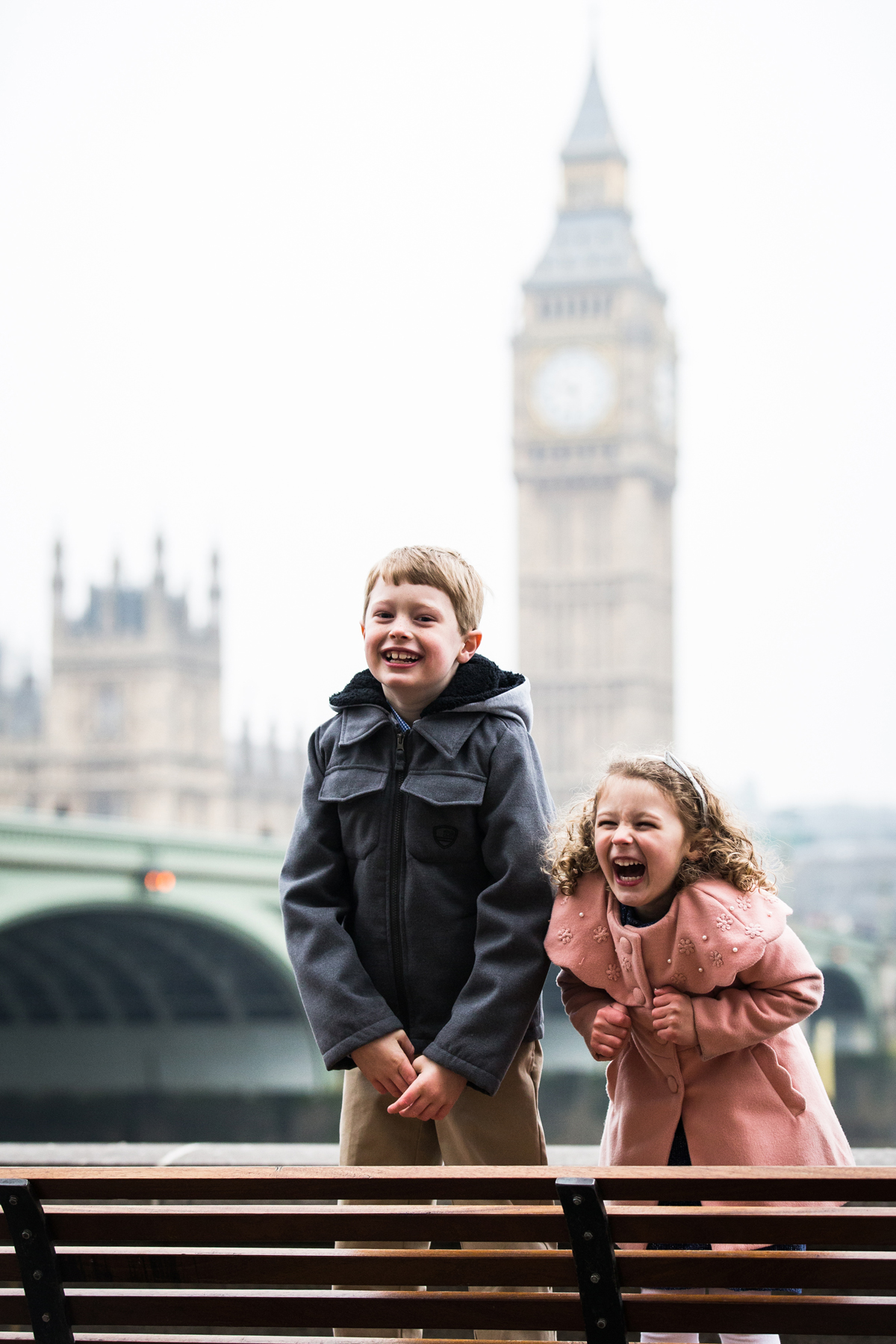 childs portrait, Big Ben, Westminster, London photo portrait