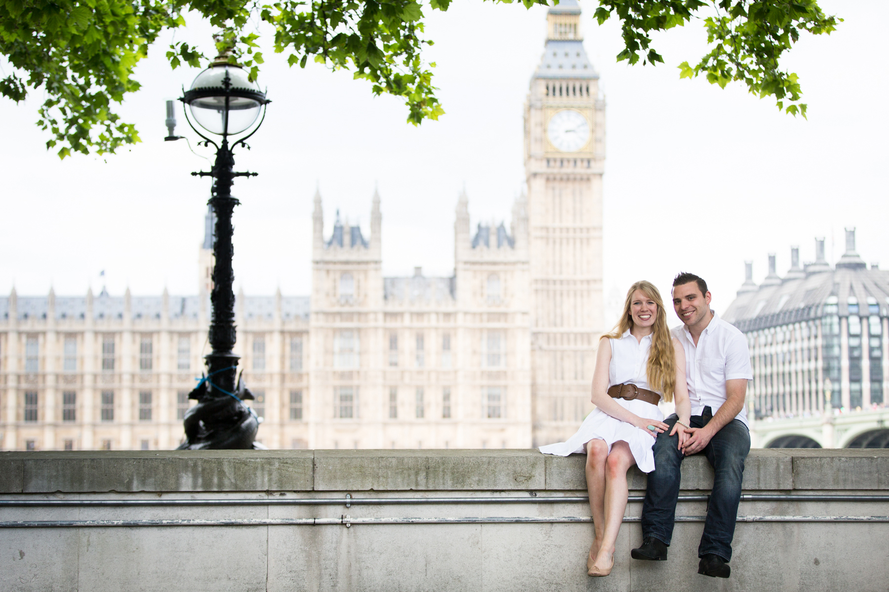 Couple portrait, Big Ben, Westminster, London photo portrait