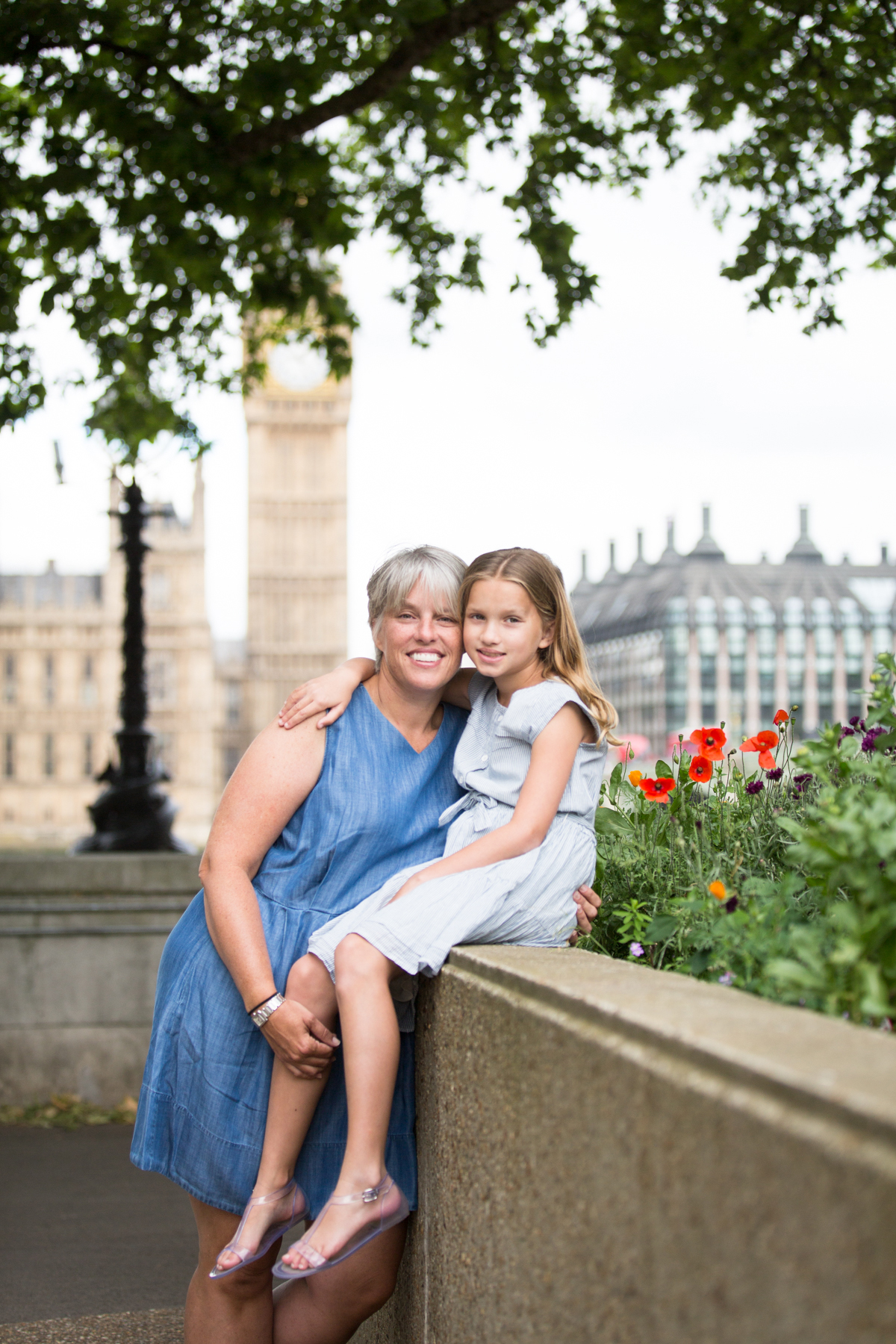 family portrait, Big Ben, Westminster, London photo portrait