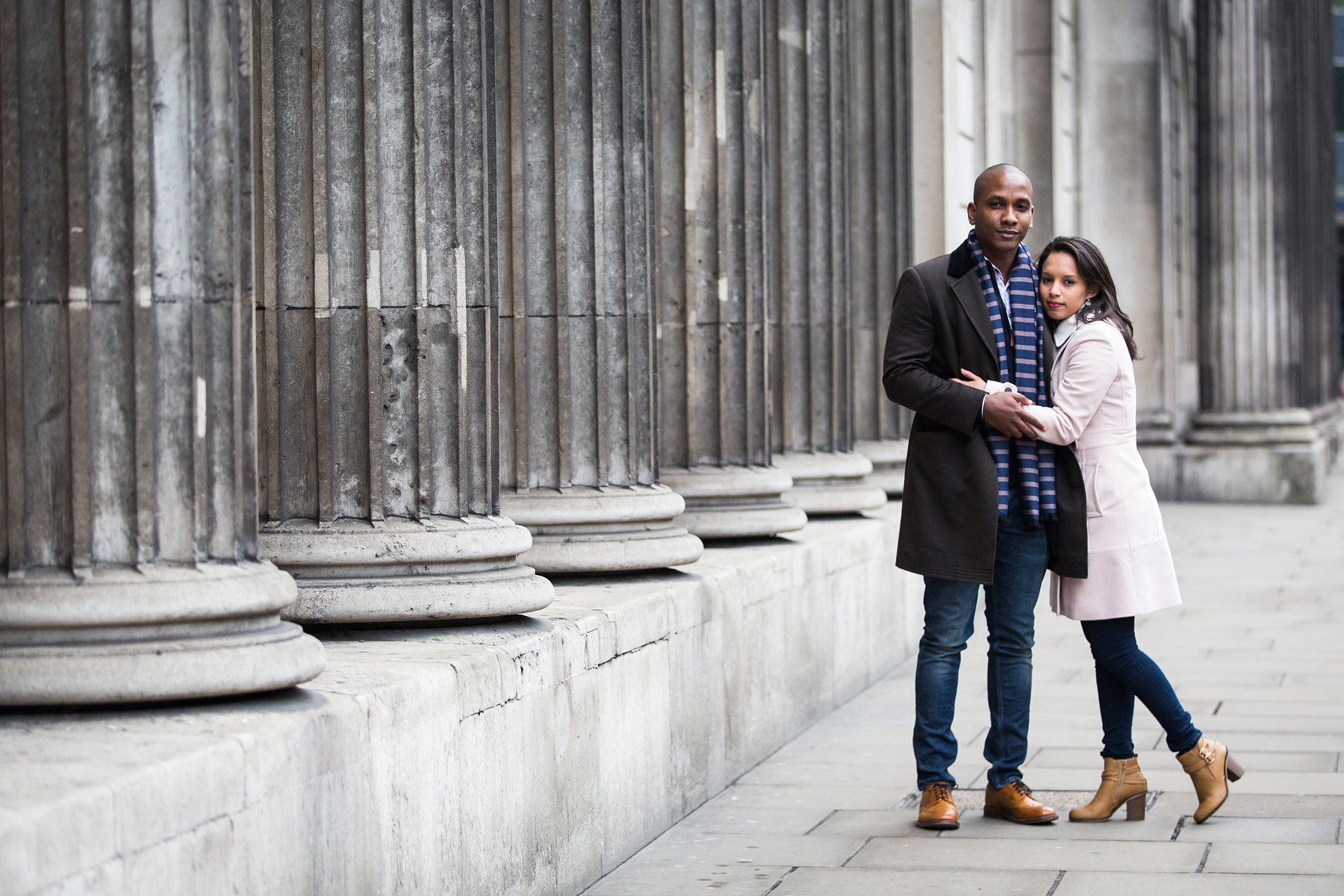 Couple portrait, engagement, The city, London photo portrait