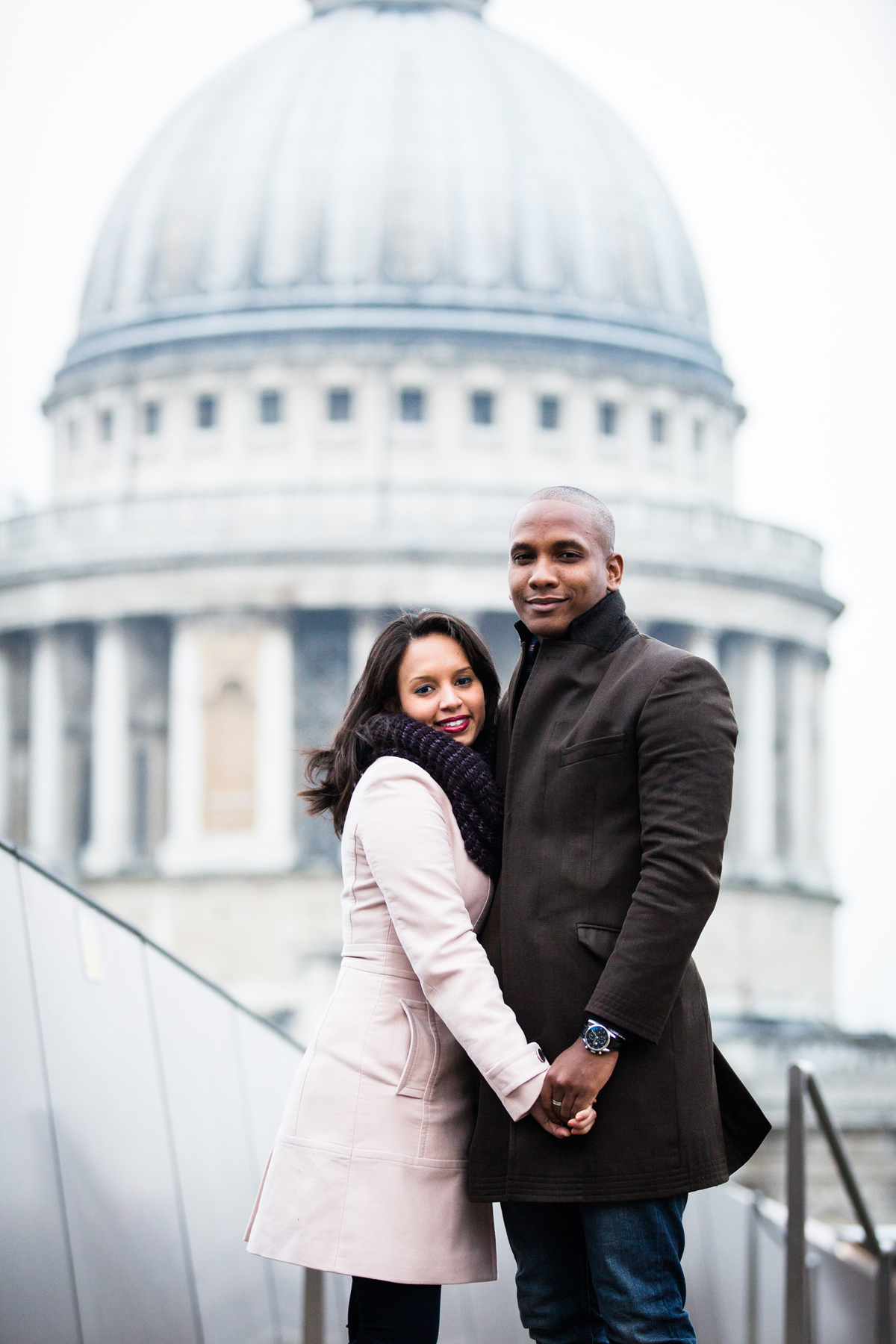 Couple portrait, engagement, The city, London photo portrait, St Pauls
