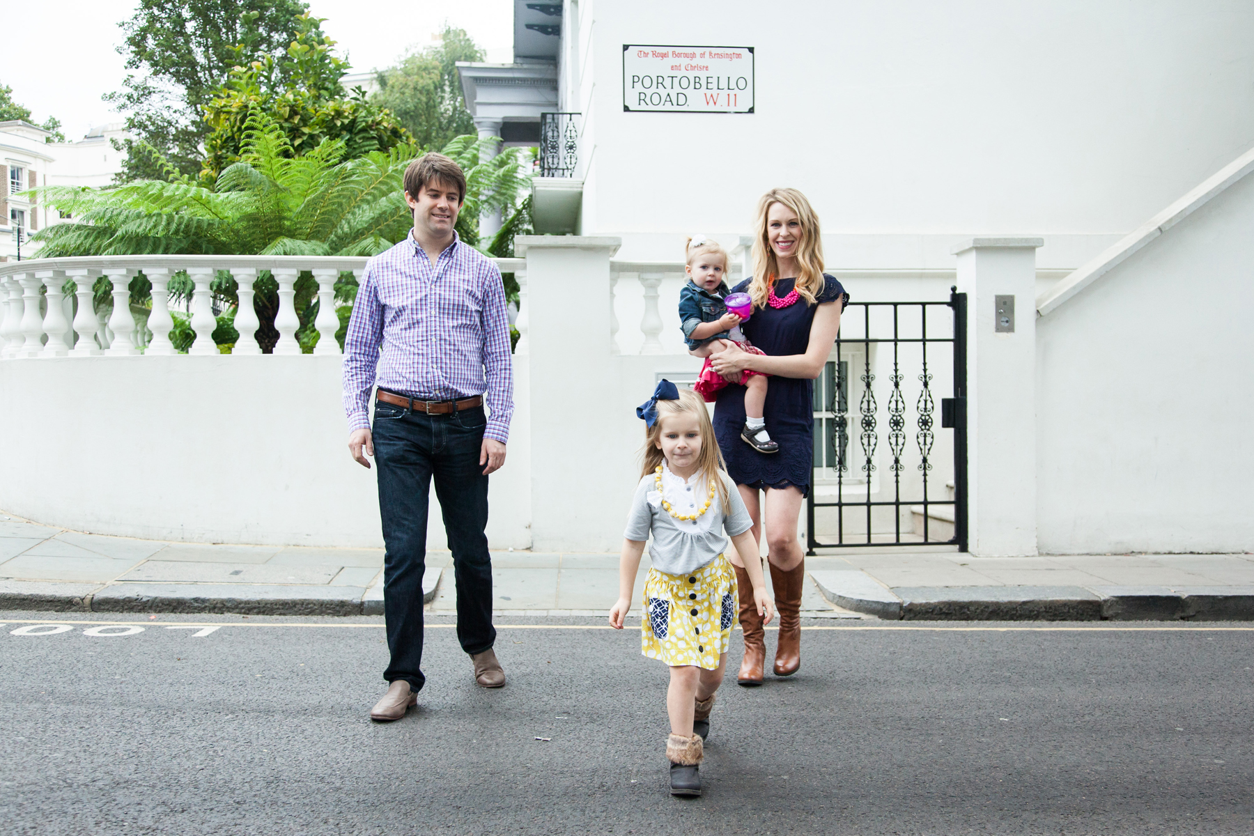 London photography family portrait, Notting Hill