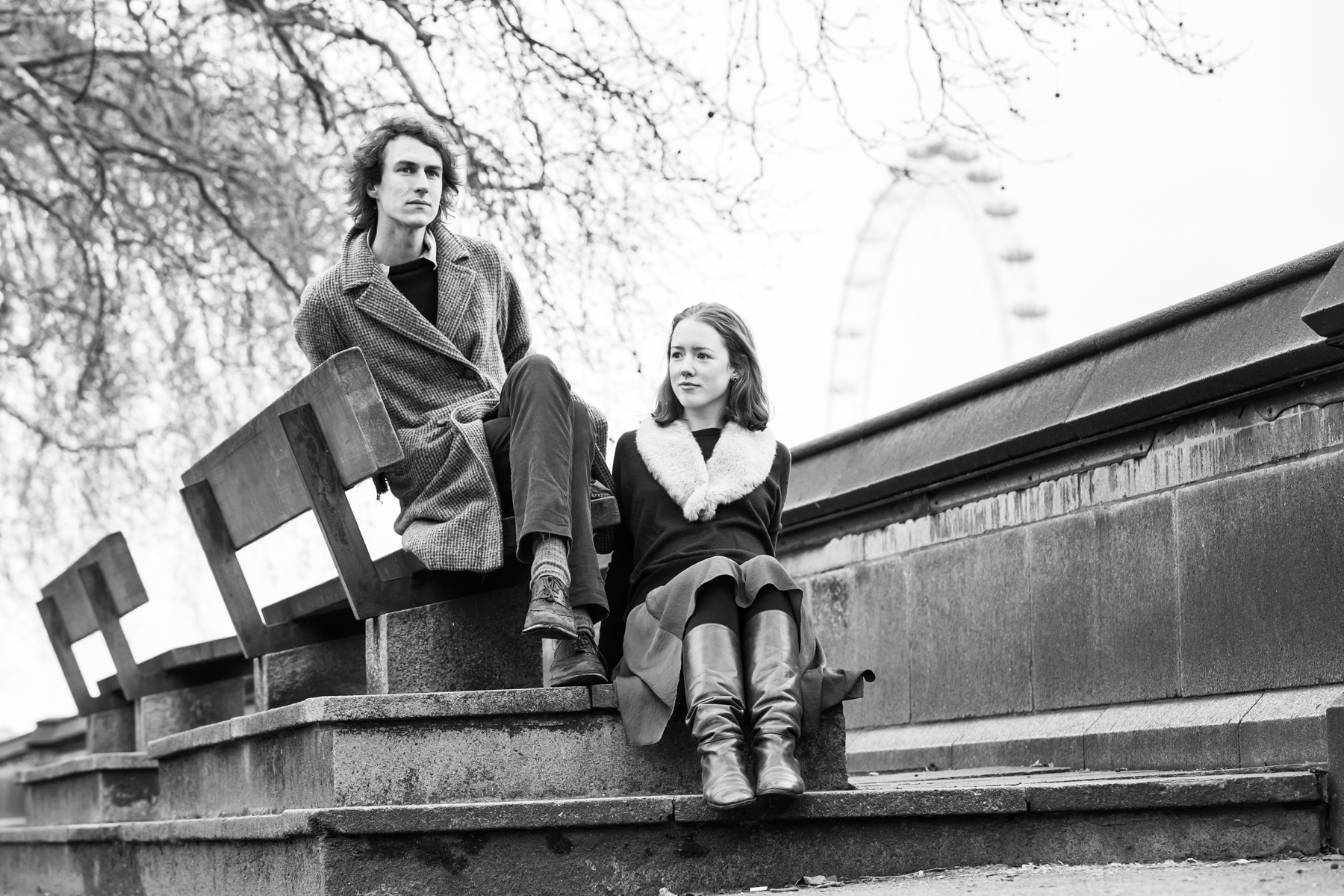 Couple portrait, London photography, Westminster