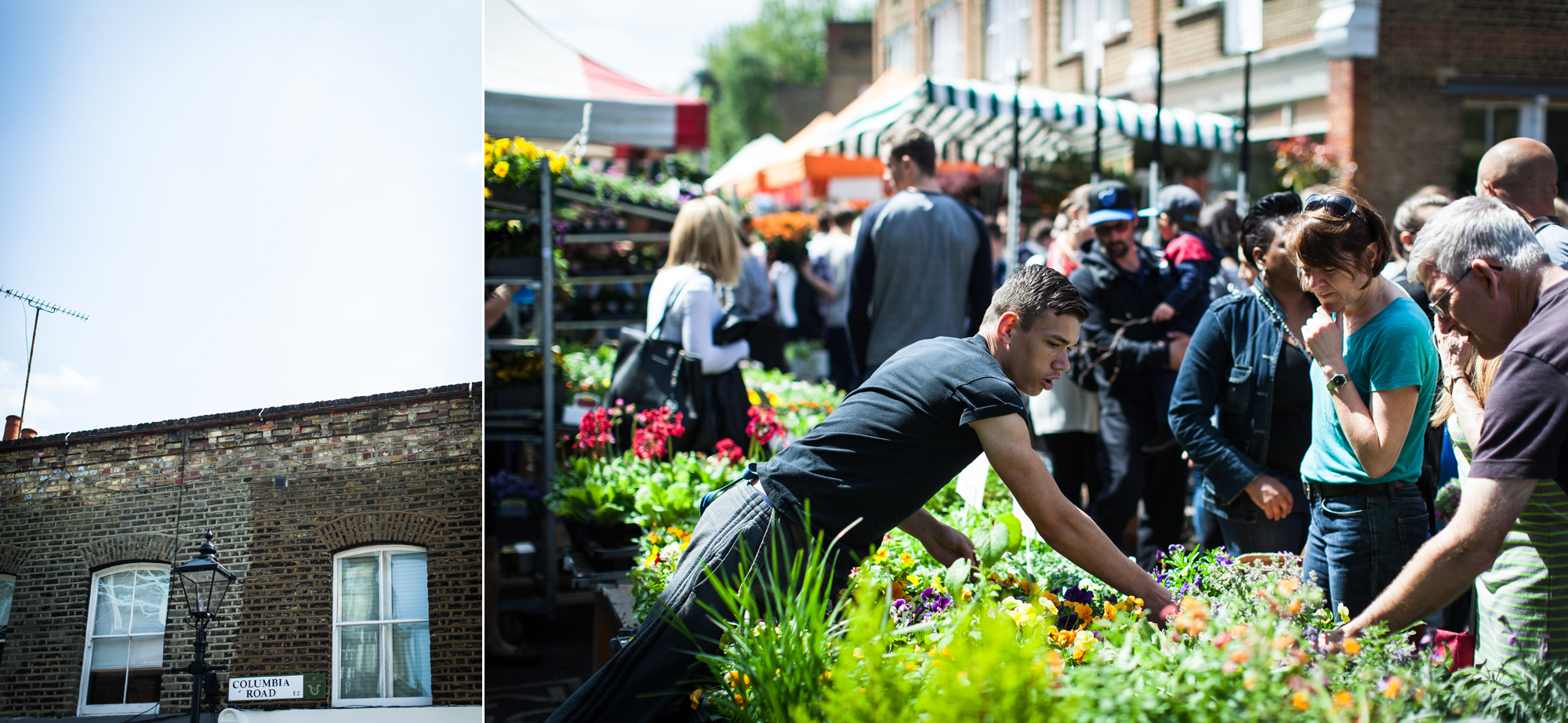 Hermione McCosh Photography - Columbia road flower market - editorial street photographer