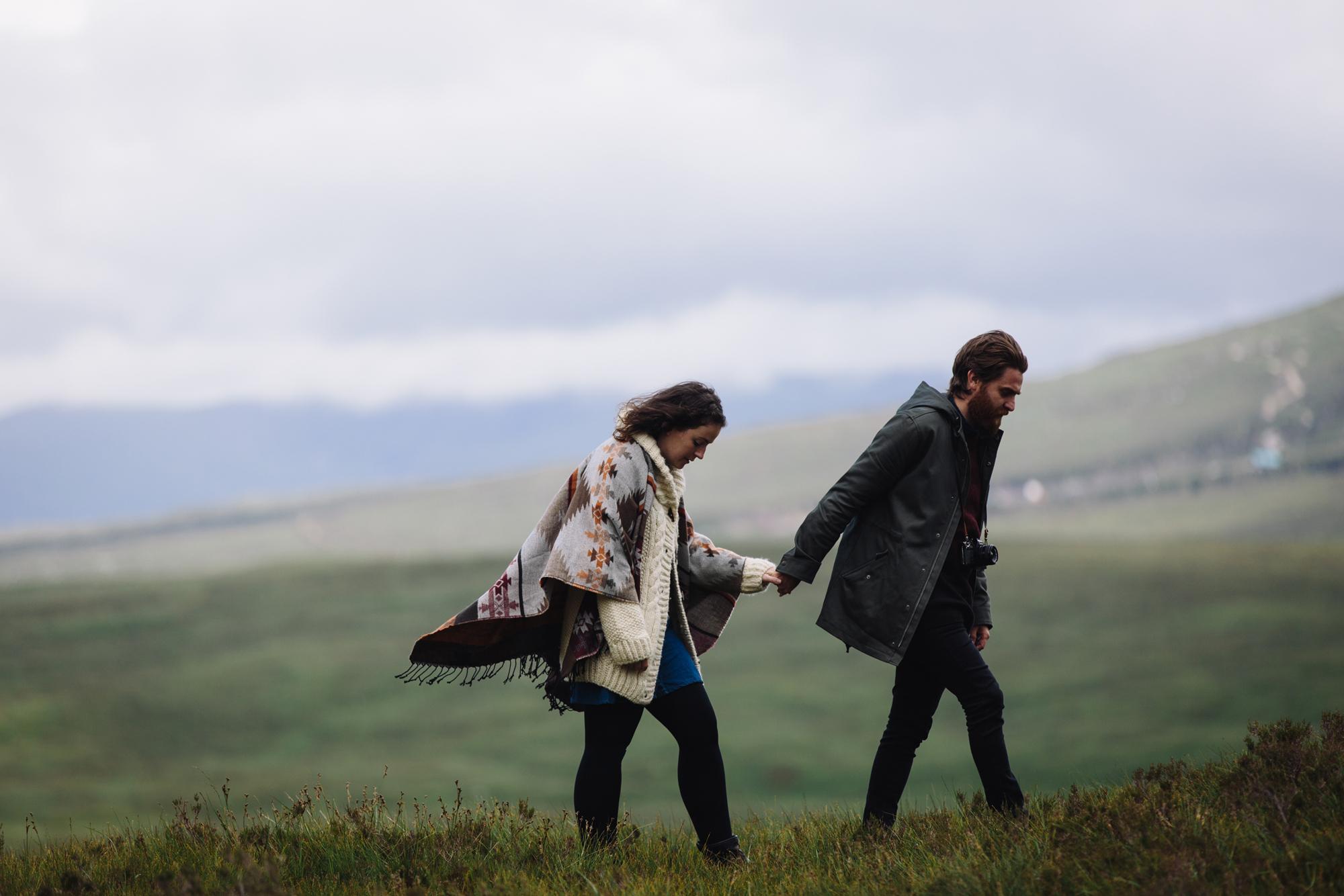 Hermione McCosh Photography - couple photoshoot in Glencoe, Scotland, scottish wedding photographer, creative and romantic portraits