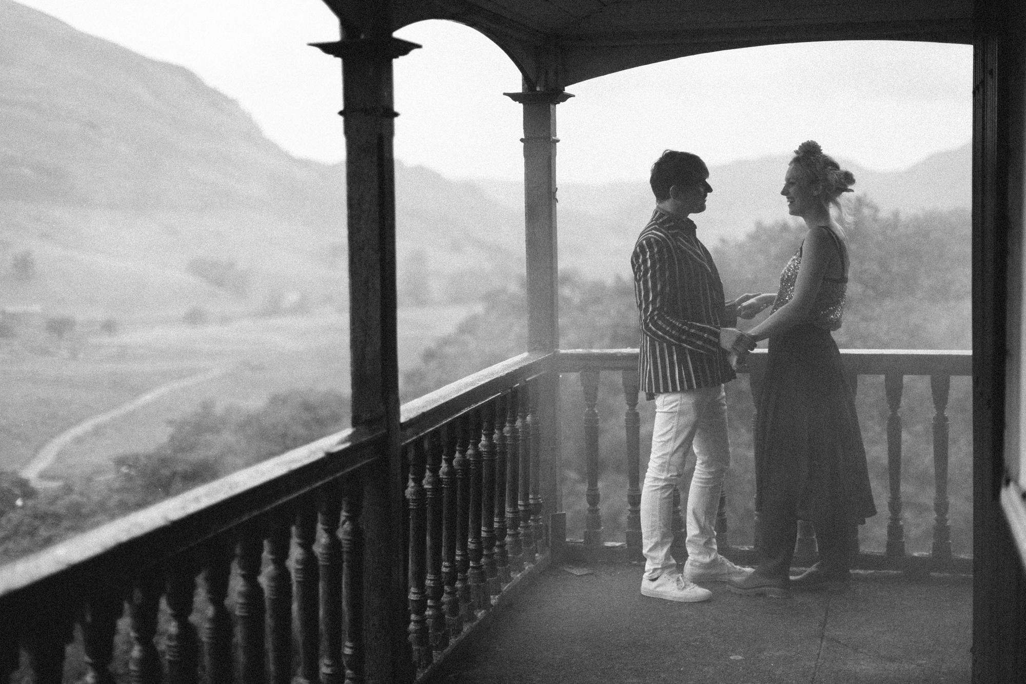 smoke bomb wedding portrait - Hermione McCosh Photography