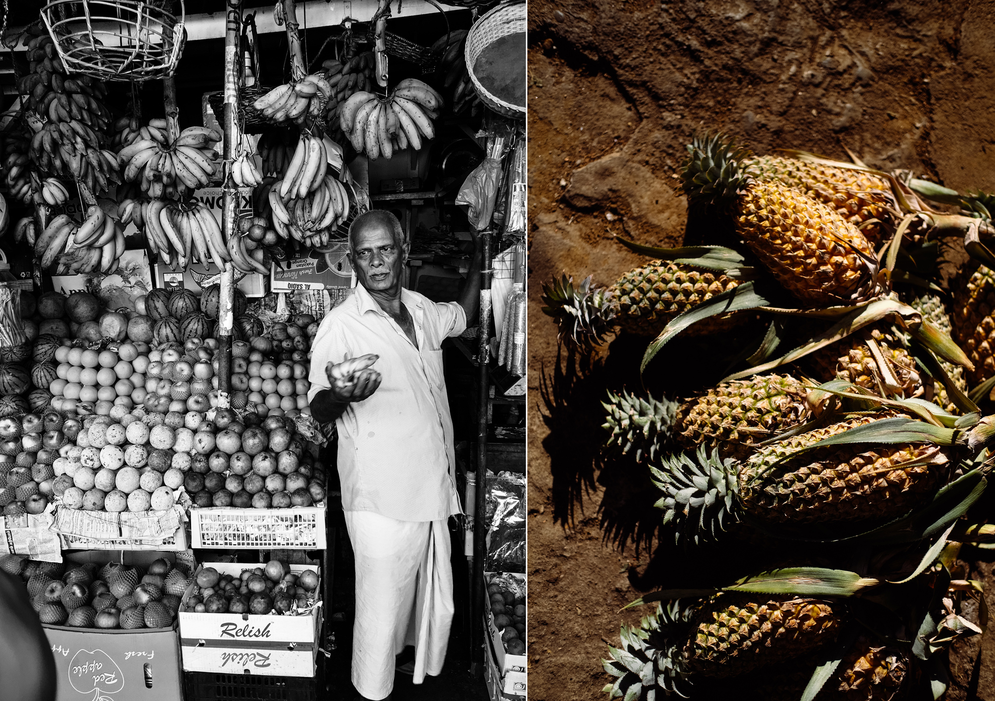 Kandy Market, Pineapples. Sri Lanka - Hermione McCosh Photography